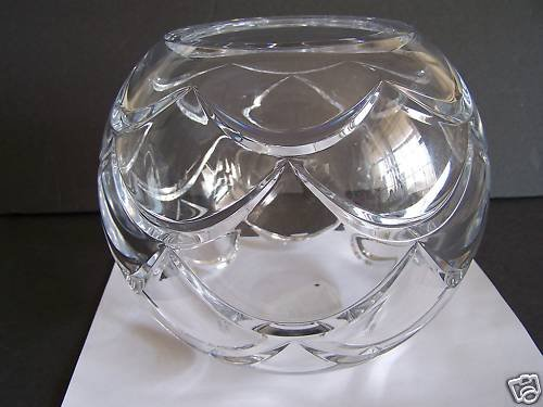 FABERGE Crystal Clear Pine Cone Rose Bowl / Vase New