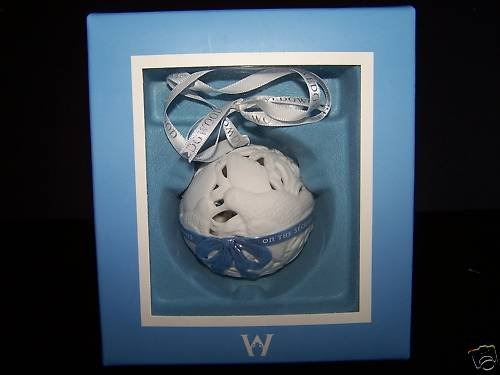 Wedgwood On The Fifth Day Of Christmas Ornament NIB