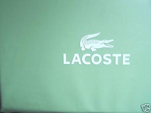 LACOSTE Queen Flat Sheet Crocod'il Green 100%Cotton New