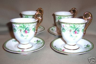 Royal Danube Coffee Espresso Cup/Saucer Set of 4 New