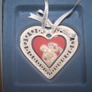 Wedgwood Our First Christmas Heart  Ornament NIB