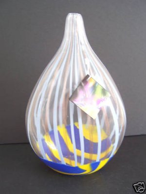 MURANO Art Glass Gorgeous Unique Vase Formia New