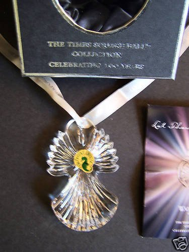 Waterford crystal times square ball joy ornament 2009 nib - Waterford crystal swimming pool times ...