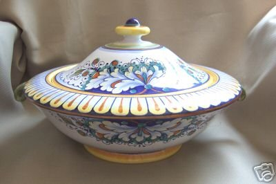 DERUTA Large Compote with Handles Italy New