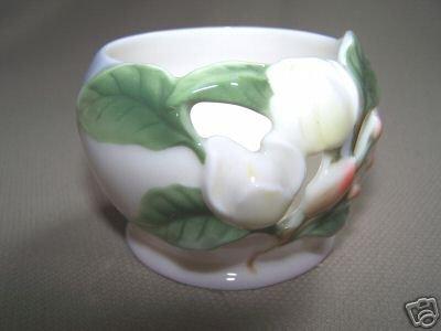 FRANZ Porcelain Magnolia Candle / Tea LIght Holder NIB