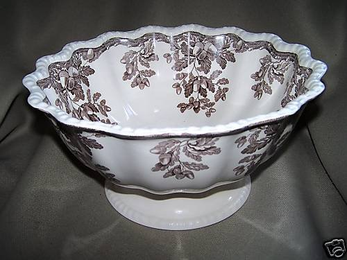 WILLIAMS SONOMA Home SPODE Manor Footed Round Bowl New