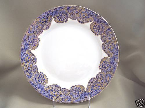 NEIMAN MARCUS Blue Lace Dinner Plate by Queen's New