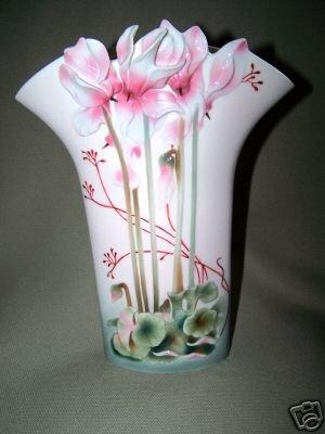 FRANZ Porcelain Cyclamen Charm Design Vase New
