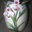 FRANZ Porcelain Slipper Orchid Wine Cooler Vase New