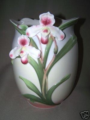 FRANZ Porcelain Slipper Orchid Wine Cooler Vase New