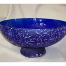 MURANO Art Glass CENEDESE  Blue Bowl Huge Signed New