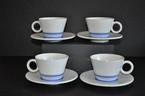 ROYAL DOULTON Terence Conran Tea Cup Saucer S/4 New