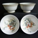 RALPH LAUREN China Veranda Fruit/Dessert Bowls S/4 New
