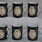 RALPH LAUREN Knockhill Tartan Green Mugs Set of 6 New