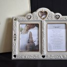 LENOX Floating Hearts Invitation Picture Frame 2 Photos 5x7 NIB