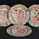 FITZ and FLOYD Glennbrook Rooster Salad Plates S/4 New