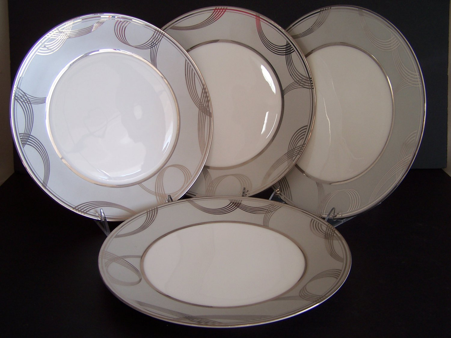 WATERFORD China Ballet Encore Dinner Plates Set/4 New