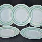 LENOX Cays Stripe Green Dessert Plates Set/5 Kate Spade New