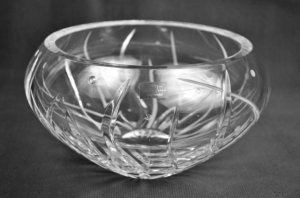 "WATERFORD Clear Crystal Fathom Bouquet 10"" Bowl/Vase Michael Aram New"