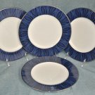 NORITAKE Stardust Platinum Accent Plates Set of 4 New