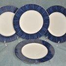 NORITAKE Stardust Platinum Accent Plates Set of 4 New