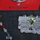 WATERFORD Crystal Christmas Coal Car Ornament  NIB