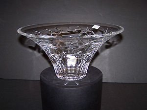 """WATERFORD Clear Crystal Garland Flared 10"""" Bowl/Vase Michael Aram New"""