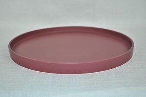 """CALVIN KLEIN Stoneware Round  Ruby Serving Platter Tray 13"""" New"""