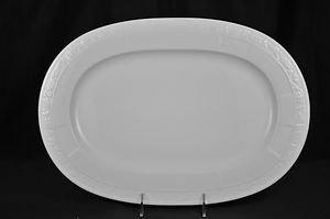 "VILLEROY & BOCH White Pearl Oval Serving Platter Large 16.5"" New"