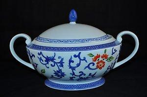 RALPH LAUREN China Mandarin Blue Casserole Tureen New