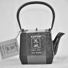 KAFUH Cast Iron Tetsubin Tea Pot Black Square 20 fl.oz.  New