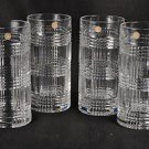 RALPH LAUREN Crystal Glen Plaid Hi Ball Glasses Set/4 NIB