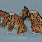 BLUE SKY Clayworks Tiger Tea Light Candle Votive Holder Set/2  New