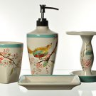 LENOX Chirp Bath Vanity Accessories 4 Piece Set  New