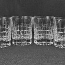 RALPH LAUREN Crystal Cocktail Party DOF Glasses Set/4 NIB