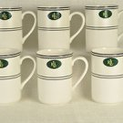 RALPH LAUREN China Spectator Mugs Set of 6 New