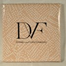 Diane Von Furstenberg DVF Home Batik Dot Twin Flat Sheet Tan 100%Cotton New