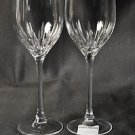 WEDGWOOD Vera Wang Crystal Duchesse Wine Glasses Set/2 New