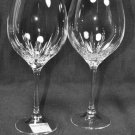 WEDGWOOD Vera Wang Crystal Duchesse Goblets Set/2 New