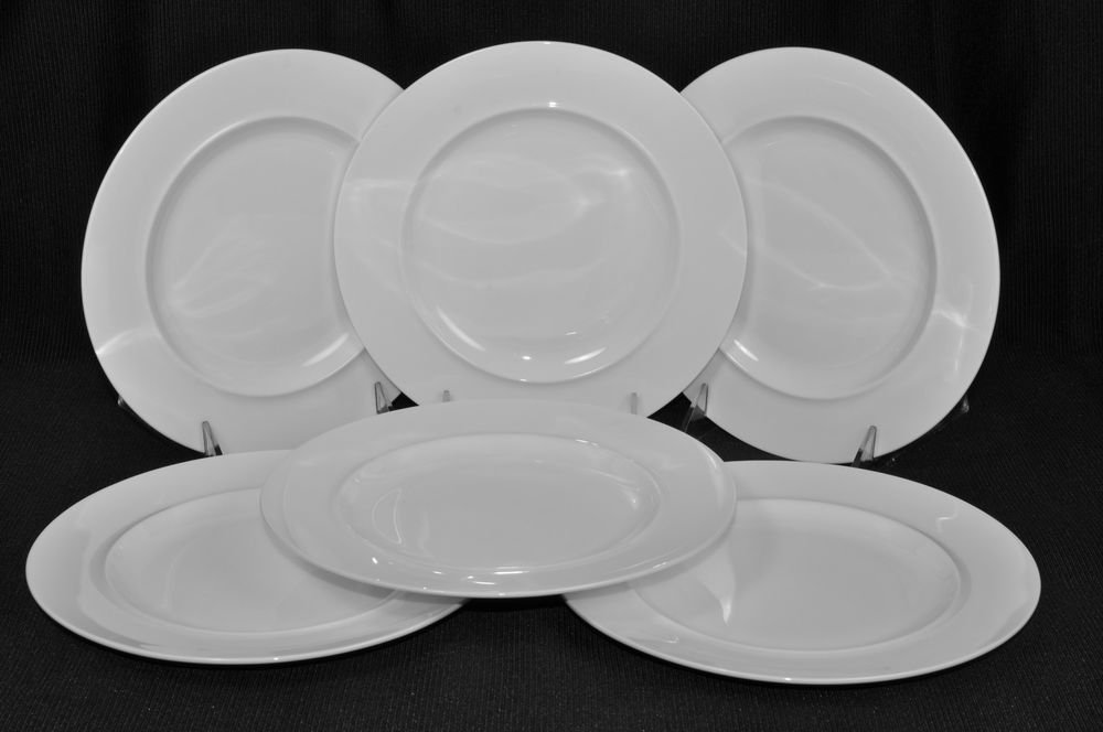 Alessi La Bella Tavola Salad Plates Set 6 White By Ettore & Alessi Plates Set - Castrophotos