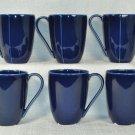 DIANE VON FURSTENBERG DVF Home Pebblestone Cobalt Blue Mugs Set/6 New