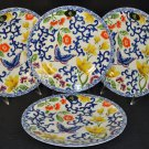 RALPH LAUREN Mandarin Blue Accent Plates  Set of 4 New
