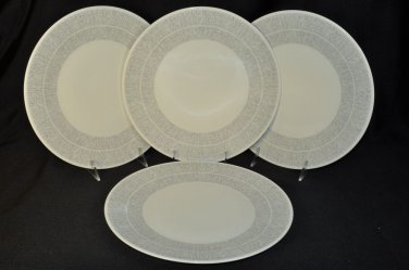 WEDGWOOD Vera Wang Vera Simplicity Cream Dinner Plates Set/4  New