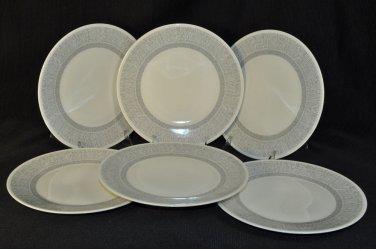WEDGWOOD Vera Wang Vera Simplicity Cream Salad Plates Set/6  New