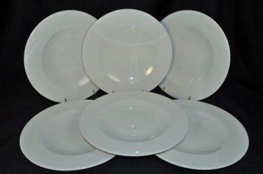 WEDGWOOD Vogue White  Dinner Plates Set/6  New