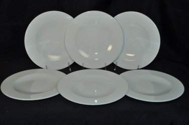 WEDGWOOD Vogue White  Salad Plates Set/6  New