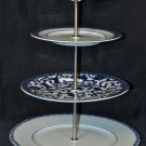 RALPH LAUREN Mandarin Blue Three Tiered Serving Tray NIB