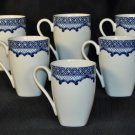 RALPH LAUREN Mandarin Blue Square Mugs  Set of 6 New