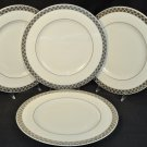 RALPH LAUREN China Aubusson Dinner Plates Set of 4 New