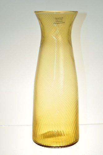 DIANE VON FURSTENBERG DVF Home Twirl Amber Carafe Glass New